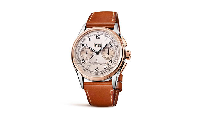 Heritage Bicompax Annual in rose gold and steel