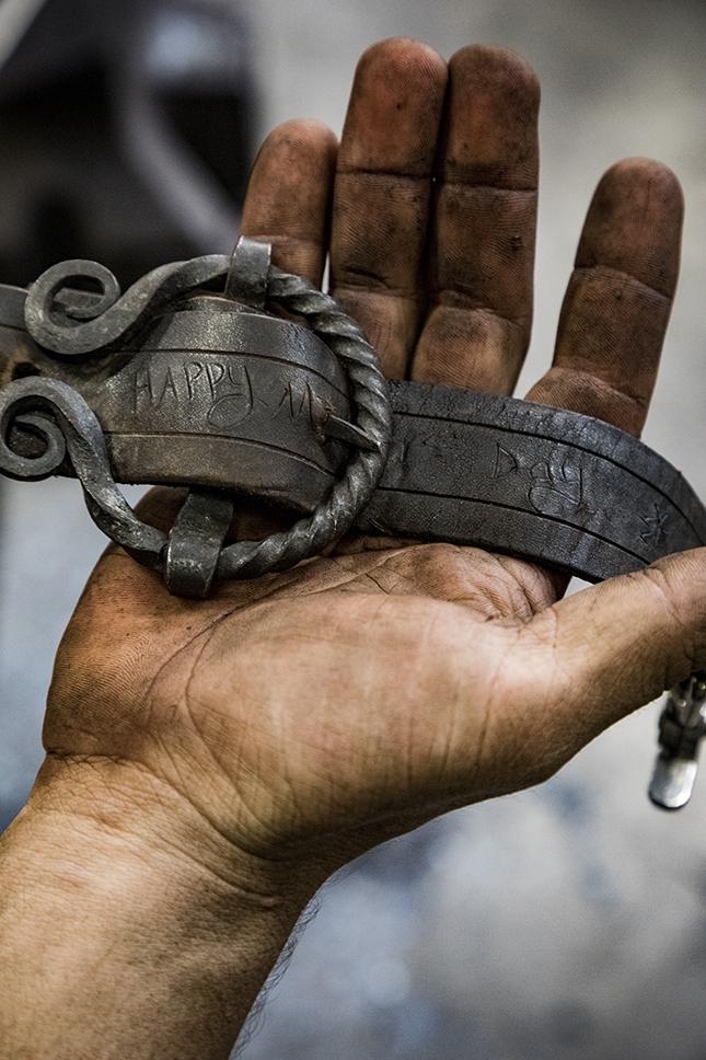 Custom metalwork. Photo by Peter Frank Edwards/Redux